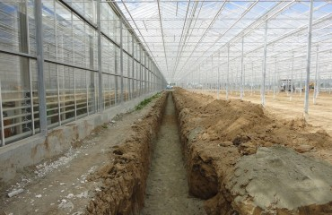 Stage II of greenhouse complex construction has been completed